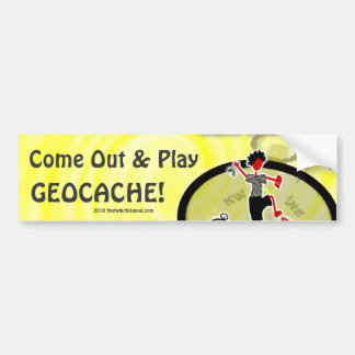 Geocaching Want To Play? Car Bumper Sticker