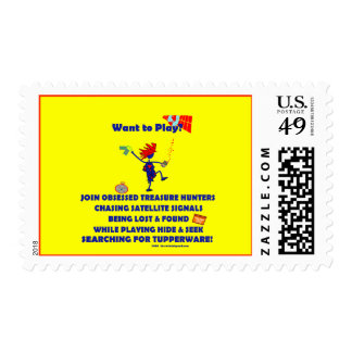 Geocaching...Want to Play? Postage Stamp