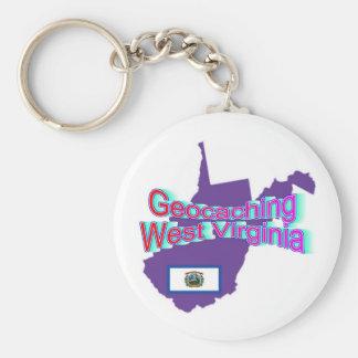 Geocaching West Virginia Keychain