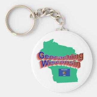 Geocaching Wisconsin Keychain