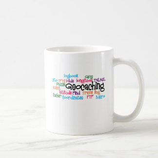 Geocaching Word Collage Coffee Mug