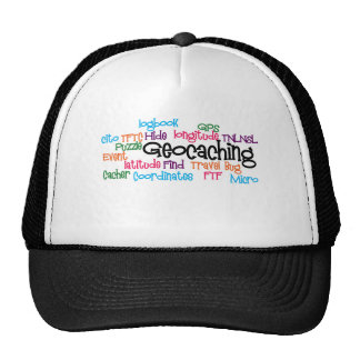 Geocaching Word Collage Hat