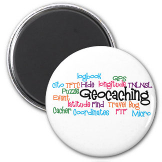 Geocaching Word Collage Magnet