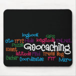 Geocaching Word Collage Mouse Pad
