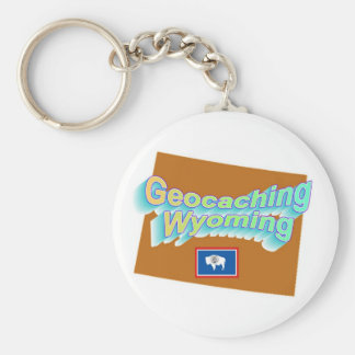 Geocaching Wyoming Keychain