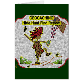 Geocachnig Hide Hunt Find Card