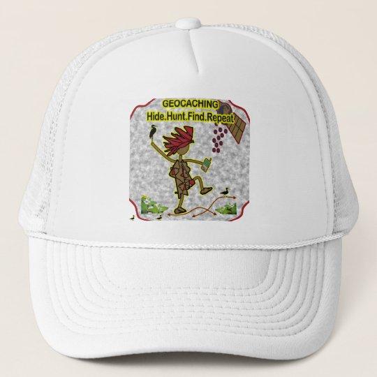Geocachnig Hide Hunt Find Trucker Hat