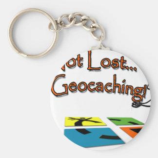Geocahing Basic Round Button Keychain