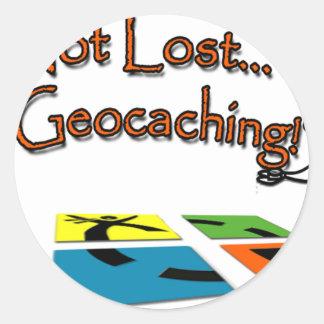 Geocahing Classic Round Sticker