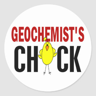 Geochemist's Chick 1 Classic Round Sticker
