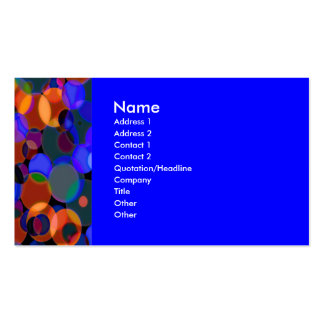 GeoCircles Blue Double-Sided Standard Business Cards (Pack Of 100)