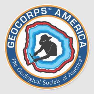 GeoCorps America Round Sticker