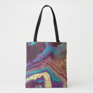 Geode Acrylic Pour All Over Tote