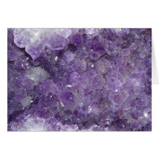 Geode Amethyst - piedra preciosa cristalina Tarjeta De Felicitación