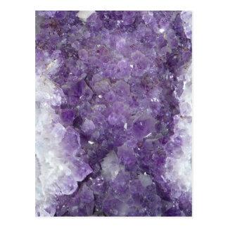 Geode Amethyst - piedra preciosa cristalina violet Tarjetas Postales