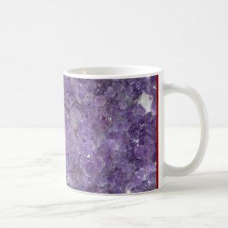Geode Amethyst - piedra preciosa cristalina violet Taza De Café