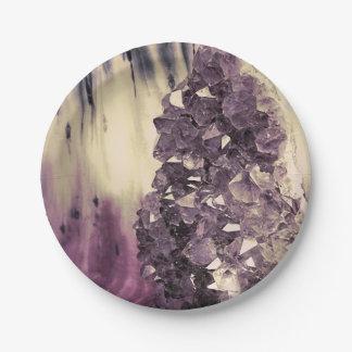 Geode Amethyst Platos De Papel