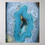 Geode Blue 1 Art Print