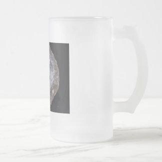 geode frosted glass beer mug