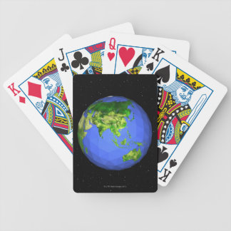 Geodesic Globe in Space Bicycle Playing Cards