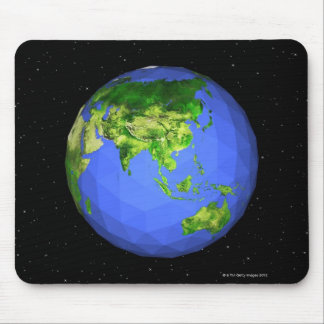 Geodesic Globe in Space Mouse Pad