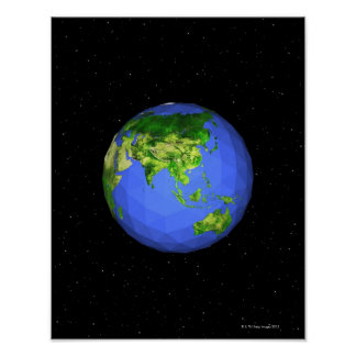 Geodesic Globe in Space Poster