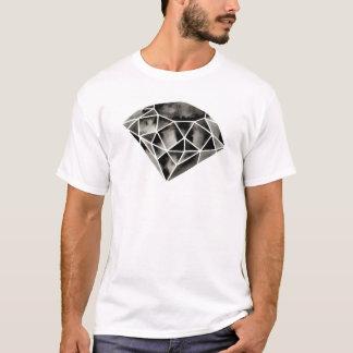 Geoemtric Diamond . Modern . Watercolor . Black T-Shirt