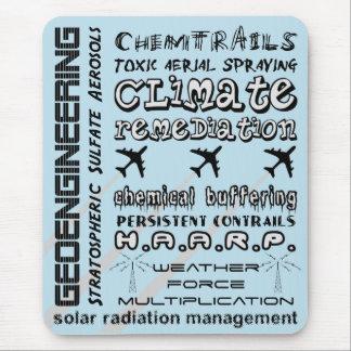 Geoengineering chemtrails toxic aerosols mouse pad