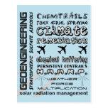 Geoengineering chemtrails toxic aerosols postcard