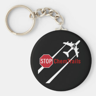 Geoengineering Plane Chemtrails Climate Control Keychain