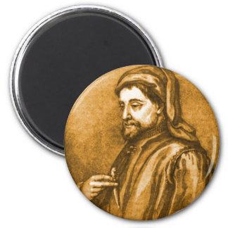 Geoffrey Chaucer 2 Inch Round Magnet