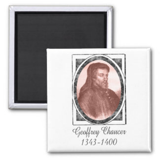 Geoffrey Chaucer 2 Inch Square Magnet