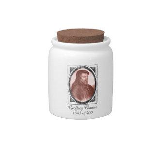 Geoffrey Chaucer Candy Jars