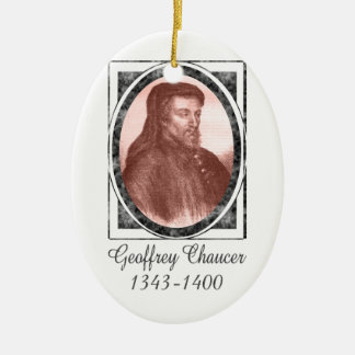 Geoffrey Chaucer Ceramic Ornament