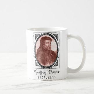 Geoffrey Chaucer Classic White Coffee Mug