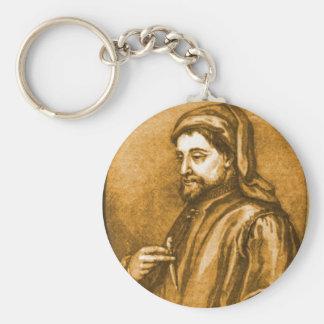 Geoffrey Chaucer Keychain