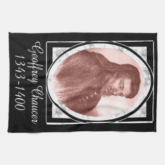 Geoffrey Chaucer Hand Towels