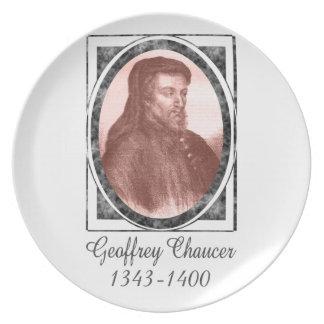 Geoffrey Chaucer Dinner Plates