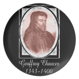 Geoffrey Chaucer Plate