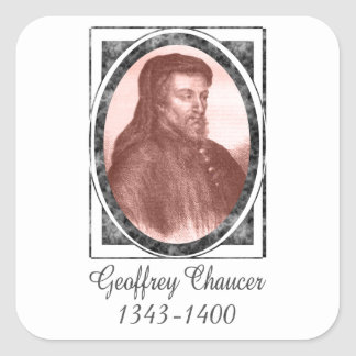 Geoffrey Chaucer Square Stickers