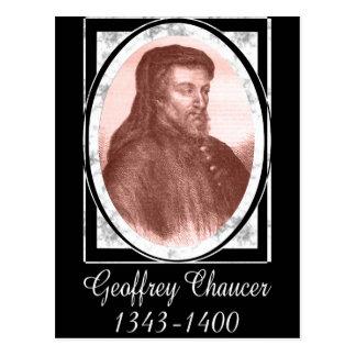Geoffrey Chaucer Tarjeta Postal