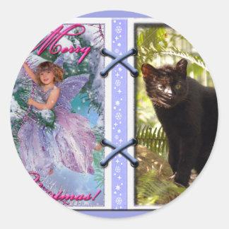 Geoffroy Cat-c-45 copy Classic Round Sticker