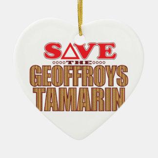 Geoffroy's Tamarin Save Ceramic Ornament