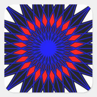 Geoflower Square Sticker