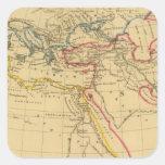 Geografía de Herodotus Pegatina Cuadrada