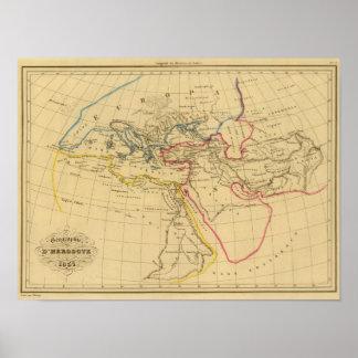 Geografía de Herodotus Póster