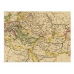 Geografía de las Edades Medias Tarjeta Postal