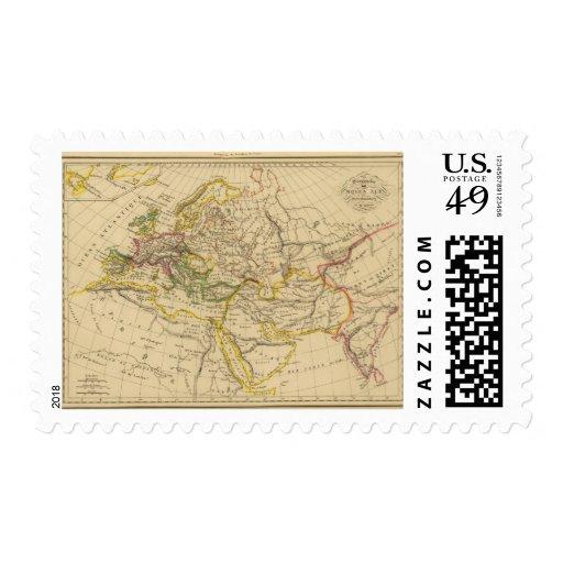 Geografía de las Edades Medias Timbre Postal
