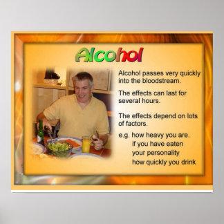 Geografía, efectos del alcohol póster
