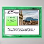 Geografía, geología, volcanes activos posters